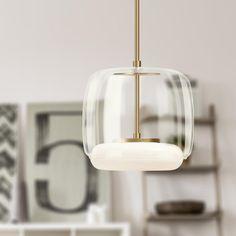 Enkel LED Mini Pendant Shown in Clear Glass Shade with Vintage Brass finish Farmhouse Lighting, Rustic Lighting, Modern Lighting, Lighting Design, Modern Lamps, Decorative Lighting, Task Lighting, Luxury Lighting, Vanity Lighting