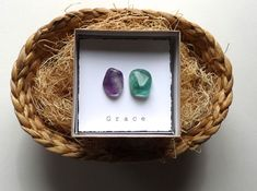 INTENTION STONE with gift box  Easter Basket Small gift