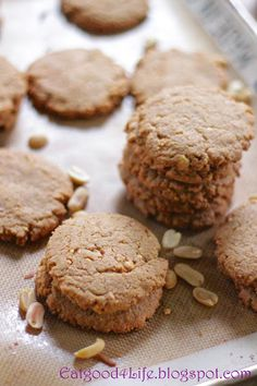 Eat Good 4 Life » Gluten free peanut butter cookies