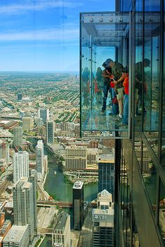 Sears Tower, Chicago! This was scary but so worth it!!!