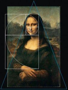 """La Proporción Áurea y el Triángulo Dorado se usaron como el 'modelo' para la """"Mona Lisa"""" de da Vinci."""