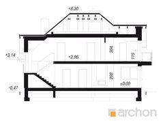 Projekt domu Dom w śliwach 2 - ARCHON+ Floor Plans, Floor Plan Drawing, House Floor Plans