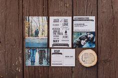 photo wedding invitations, photo by With Love & Embers http://ruffledblog.com/ostertag-vistas-wedding #weddinginvitations #stationery