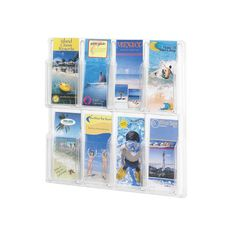 Safco Products Reveal Clear Literature Displays, 8 Compartments & Reviews | Wayfair