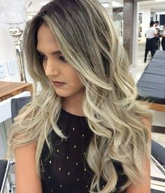 Black To Blonde Long Layered Ombre Hair
