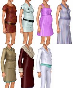 Base Game Maternity Enabled Defaults (87) Hidden outfits not included. ___________ Interaction / issues (click to read) • For taking pictures, these work best with custom poses. • ALL BASE GAME...