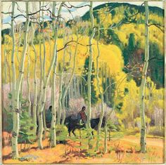 "Galley Guide 2011:Taos Art Museum: E.M. Hennings ""Thinning Aspens"""