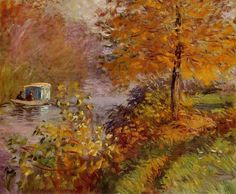 The Studio Boat 1876 Claude Monet
