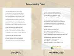 http://www.paraphrasegenerator.com/useful-paraphrasing-exercises-with-answers/ Get the idea on how should a well paraphrased text look like by checking out this perfect sample