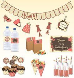 Fashion Birthday Party Theme DIY Mini por StyliciousPrintables