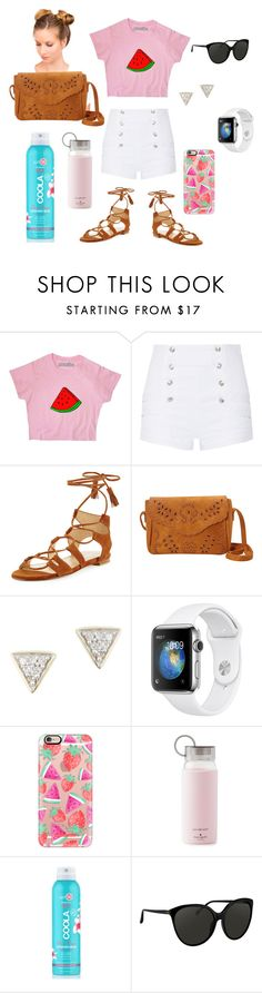 """Winter blues, want summer!"" by kaylastyles4life ❤ liked on Polyvore featuring Pierre Balmain, Stuart Weitzman, Nu-G, Adina Reyter, Casetify, Kate Spade, COOLA Suncare and Linda Farrow"