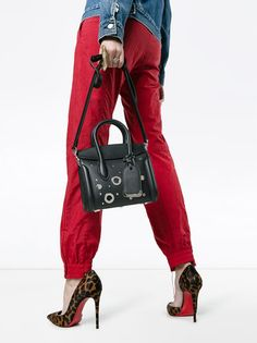 Alexander McQueen Heroine 21 Embellished Leather Tote  - Farfetch