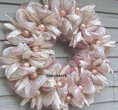 Your place to buy and sell all things handmade Tutu Wreath, Pink Wreath, Gold Wreath, Burlap Wreath, Victorian Christmas, Pink Christmas, Christmas Trees, Christmas Mesh Wreaths, Winter Wreaths