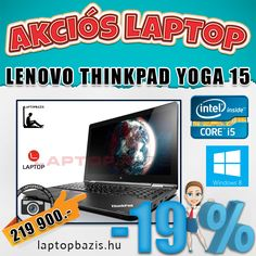 "Új Lenovo Thinkpad Yoga 15 Ultrabook, 15,6"" FHD érintőkijelző, Intel Core i5-5200U, SSD, 8 GB DDR3, Windows 8"