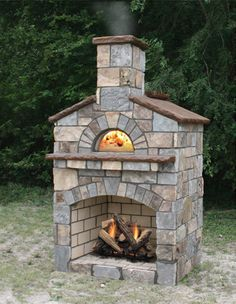 Stone Age's Mezzo™ Vent Free Combo Fireplace Oven combines a vent free gas fireplace with our Mezzo wood fired oven into one great package. Brick Oven Outdoor, Outdoor Fireplace Patio, Outdoor Stone Fireplaces, Outside Fireplace, Outdoor Fireplace Designs, Pizza Oven Outdoor, Gas Fireplace, Fire Pit Backyard, Backyard Patio