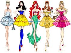 Disney Princesses all grown up!