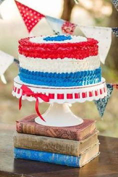 WOW! Take a look at the incredible cake at this July 4th party! See more party ideas and share yours at CatchMyParty.com