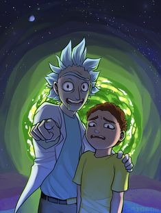 RICK AND MORTY IS MY FAVOURITE SHOW. Art by http://gatobob.tumblr.com/