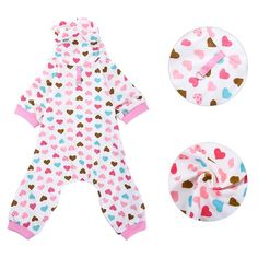 Dog Pajamas Pet Sleep Clothes Cozy Puppy Shirt Doggy Home Wear Highneck Cotton LeisureandDurable Pet Jumpsuit by Awtang *** Click image for more details. (This is an affiliate link and I receive a commission for the sales)