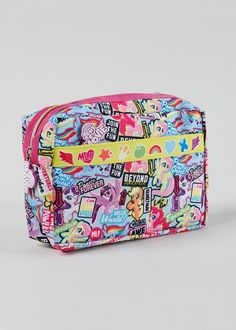 2da63f9458e9 Soft zip up pencil case in pink with all over My Little Pony print. Matalan