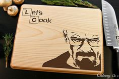 Breaking Bad Heisenberg Engraved Personalized Cutting Board ~ Walter White…