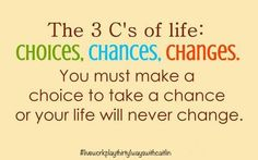 #Choices #Chances #Changes - this is my motto for the year!