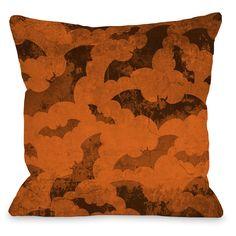 Flying Bats 2 Throw Pillow