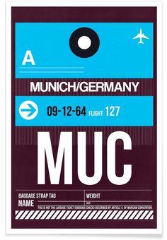 MUC-München - Naxart - Premium Poster