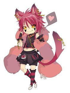 Happy B-Day ~ by Iguky on DeviantArt Anime Chibi, Manga Anime, Alice Anime, Lost Girl, Happy B Day, Cheshire Cat, Cool Drawings, Neko, Cute Boys