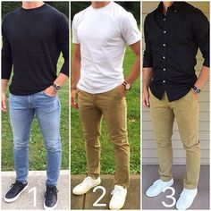 Is it ⚫️ or ⚪️❓ These were your 3 favorite outfits from the last month. Which look do you like the best❓ _______________________________________________________ • • • • • #casual #casualstyle #currentlywearing #dailylook #fashionblog #fashiongram #fashionpost #guys #instyle #lookoftheday #menfashion #menstyle #menswear #menwithstyle #mylook #ootdshare #outfitoftheday #outfit #outfits #black #styleblog #white #styleinspiration #styleoftheday #styles #todaysoutfit #whatiworetoday...