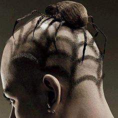 hair styled as a spider.....