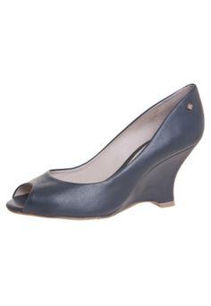 Peep Toe Capodarte Fashion Azul - couro sintético