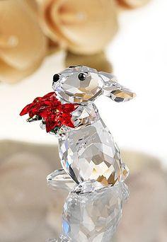 Swarovski Rabbit with Poinsettia, 2012