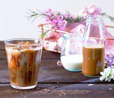 Thajská mandlová káva , Foto: archiv Jacobs - My site Beverages, Drinks, Frappe, Sweet Desserts, Panna Cotta, Smoothies, Sweet Home, Food And Drink, Cocktails