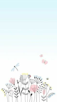 2+ Free Watercolor+Flowers+Flower+Back & School Start Images