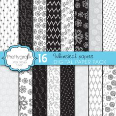 Whimsical papers - Perfect for weddings, scrapbooking, invitations, tags and more.