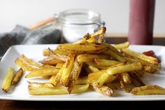 Oven Fries from Smitten Kitchen.  Made these 11/1/2015.  Came out good but may not be worth the extra effort to boil fries when they can be baked for the same time with a crisper result.  Used seasoning salt, ground pepper, and garlic powder to add seasoning.