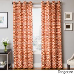 Kaili Faux Linen Grommet Top Curtain Panel | Overstock™ Shopping - Great Deals on Softline Curtains