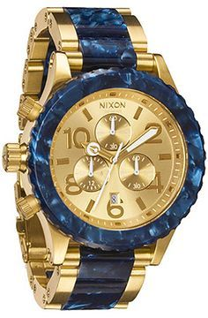 The 42-20 Chrono in Gold/Royal Granite  Women's Watches By Nixon