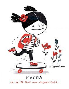 Magda - La Petite Fille Aux Coquelicots Elise Gravel | author - illustrator
