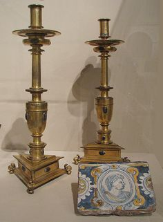 Pair of candlesticks, 17th century. Spanish. The Metropolitan Museum of Art, New York. Bequest of George Blumenthal, 1941 (41.190.57, .58)