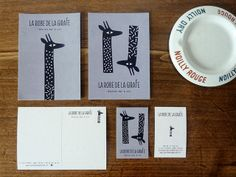 La Robe de la Girafe | Ma+Chr Bar, Stationery, Graphic Design, Tableware, Creative, Site Internet, Projects, Identity, Illustration