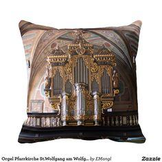 Orgel Pfarrkirche St.Wolfgang am Wolfgangsee Throw Pillow - organ austria