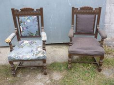 Two Exceptional Vintage Parlour Chairs by LoveYourVintageHome on Etsy Vintage Furniture For Sale, Parlour, Dining Room Chairs, Livingston, Antiques, Etsy, Home Decor, Products, Antiquities