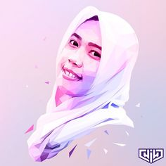 Dhara Tri Juwita // #lowpoly #lowpolylook #lowpolyartwork #polyart #polygonal #featureartwork #artworktoday #art #artwork #digitalart #portrait #popart #design #vector #vectorart #hijab #desain #coreldraw #colorful #purple #illustrator #illustration #ilustrasi
