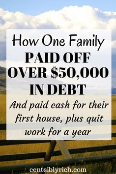 How one family paid off over $50,000 in Debt
