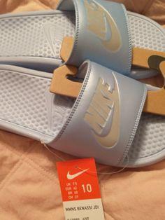 New size 10 women's Benassi JDI Slides Fit like an 8.5/9 Nike Slides, Size 10 Women, Women's Shoes Sandals, Balenciaga, Nike Women, Sneakers, Fit, Fashion, Nike Slippers