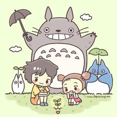 My Neighbor Totoro by littlemisspaintbrush.tumblr.com