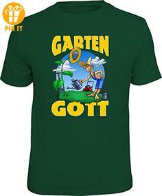Original RAHMENLOS® T-Shirt für den aktiven Gärtner: Gartengott Größe XXL, Nr.4618 - T-Shirts mit Spruch   Lustige und coole T-Shirts   Funny T-Shirts (*Partner-Link)