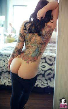 Tattoo girls are amazing. Lovely back.